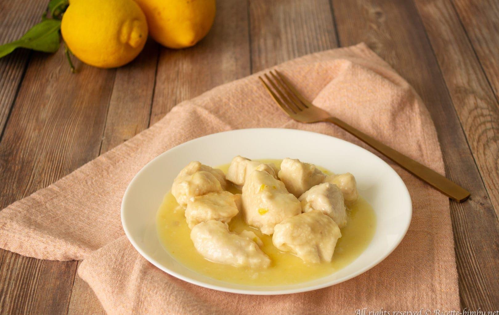 Bocconcini di pollo al limone Bimby