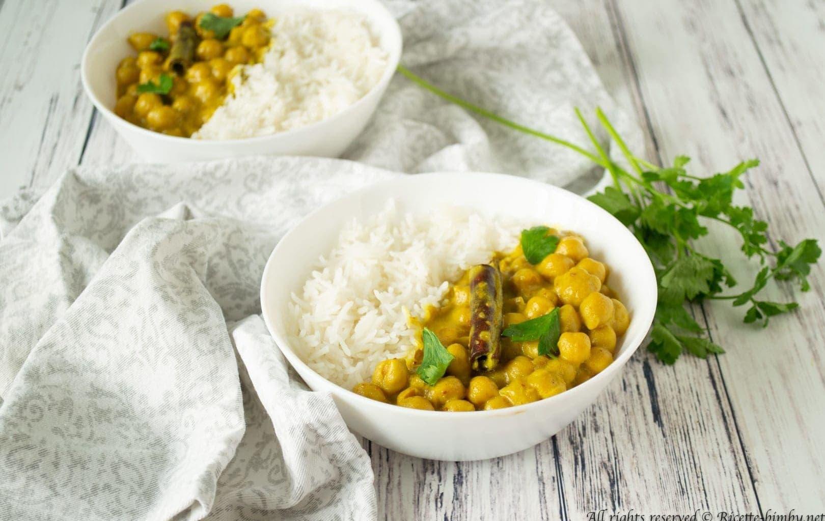 Curry di ceci al cocco Bimby