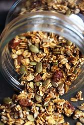 Jar of Healthy Pumpkin Granola