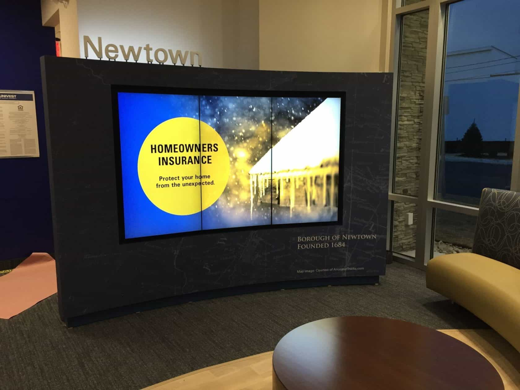 Univest video wall