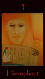 Tarot Hierophant major arcana tarot divination card.