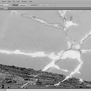Restoring a crack in a photo the right way