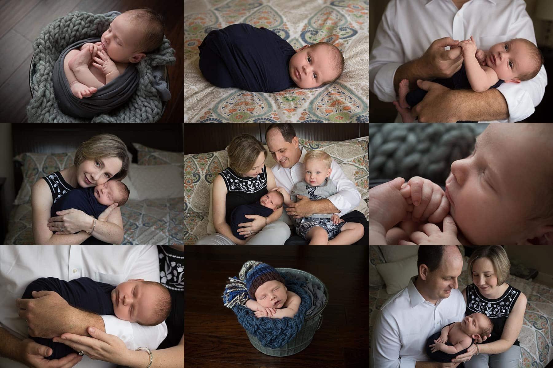 newborn boy photo session at home in San Antonio, Texas