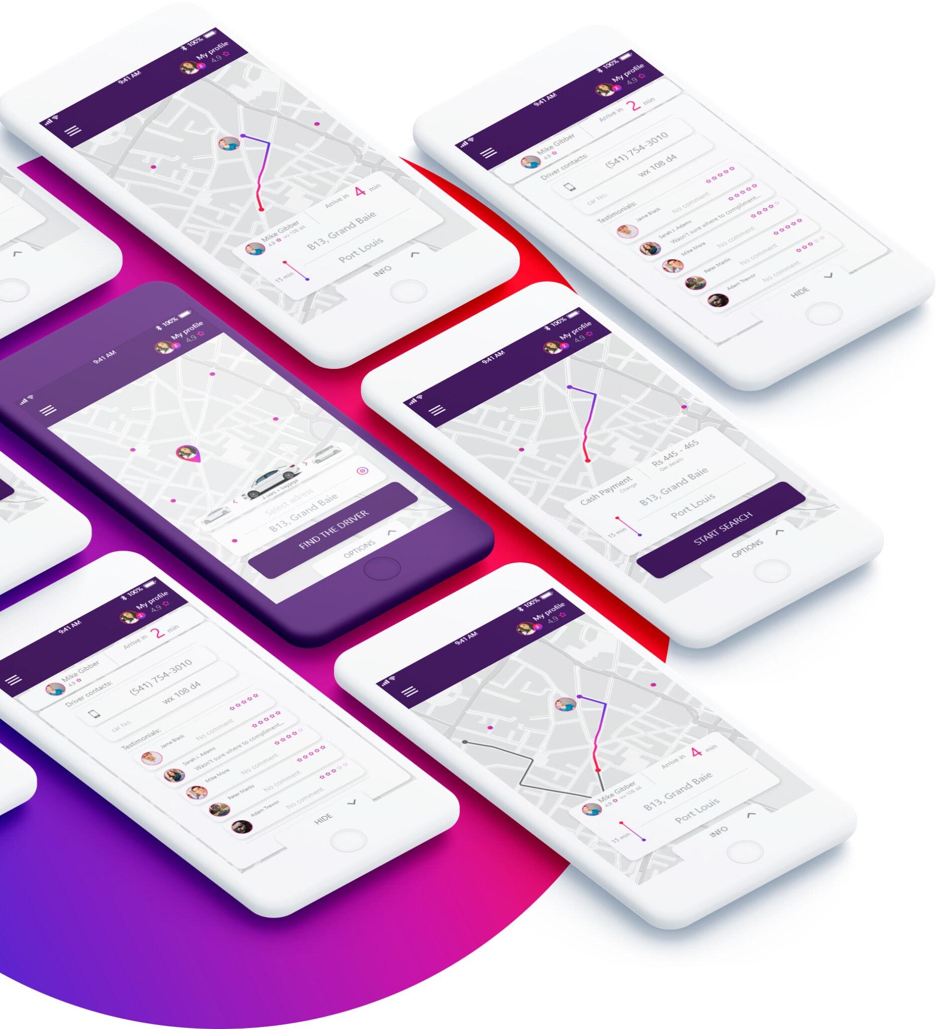 Projektowanie graficzne aplikacji mobilnej typu uber android ios