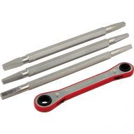 Ratcheting faucet seat wrench kit