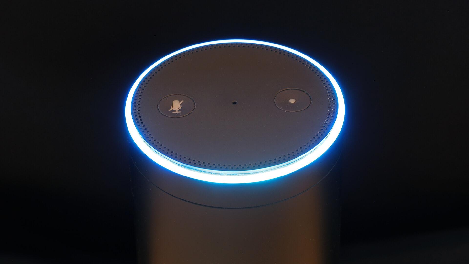 Amazon Echo, housing the Alexa intelligent agent