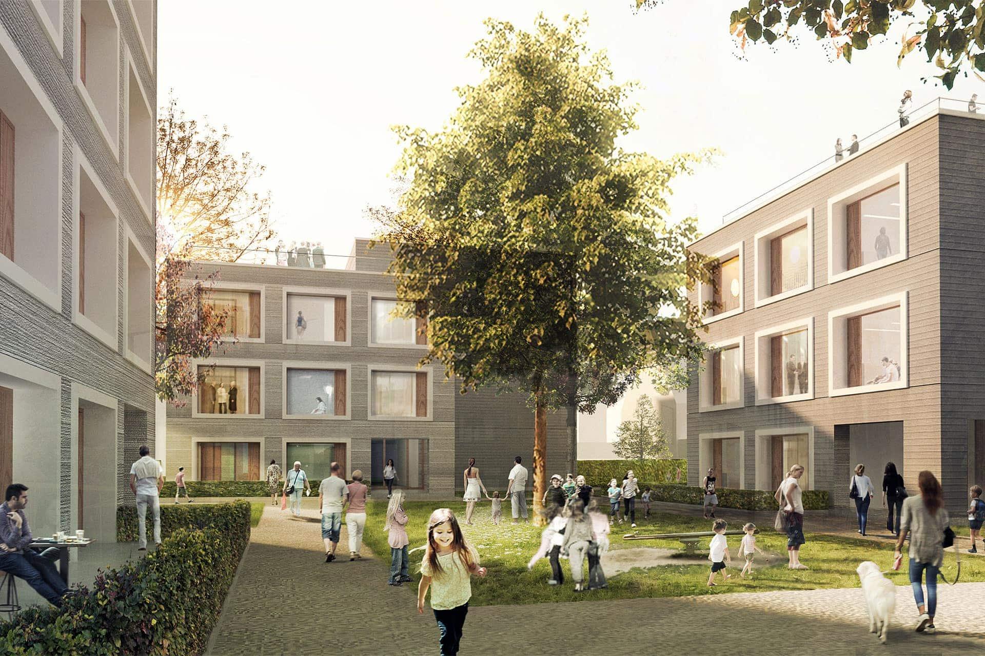 Siedlungsbau Wendlingen Aussenansicht