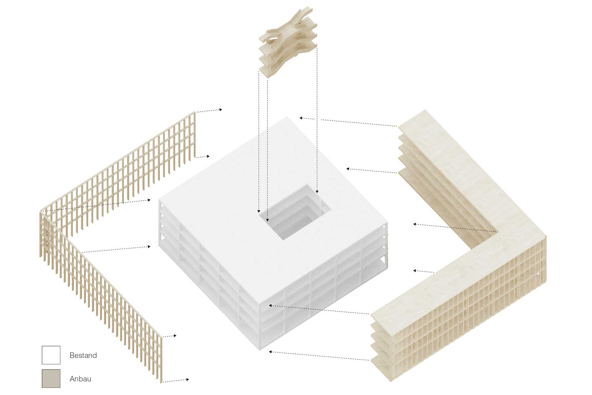 Diagramm zum Thema Weiterbauen, Rathaus Laupheim