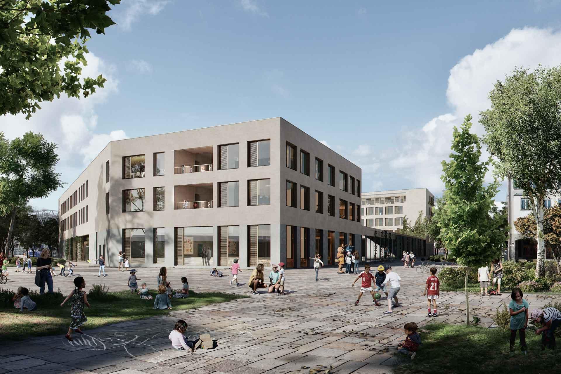 Bildungszentrum Stuttgart Neckarpark Blockrand