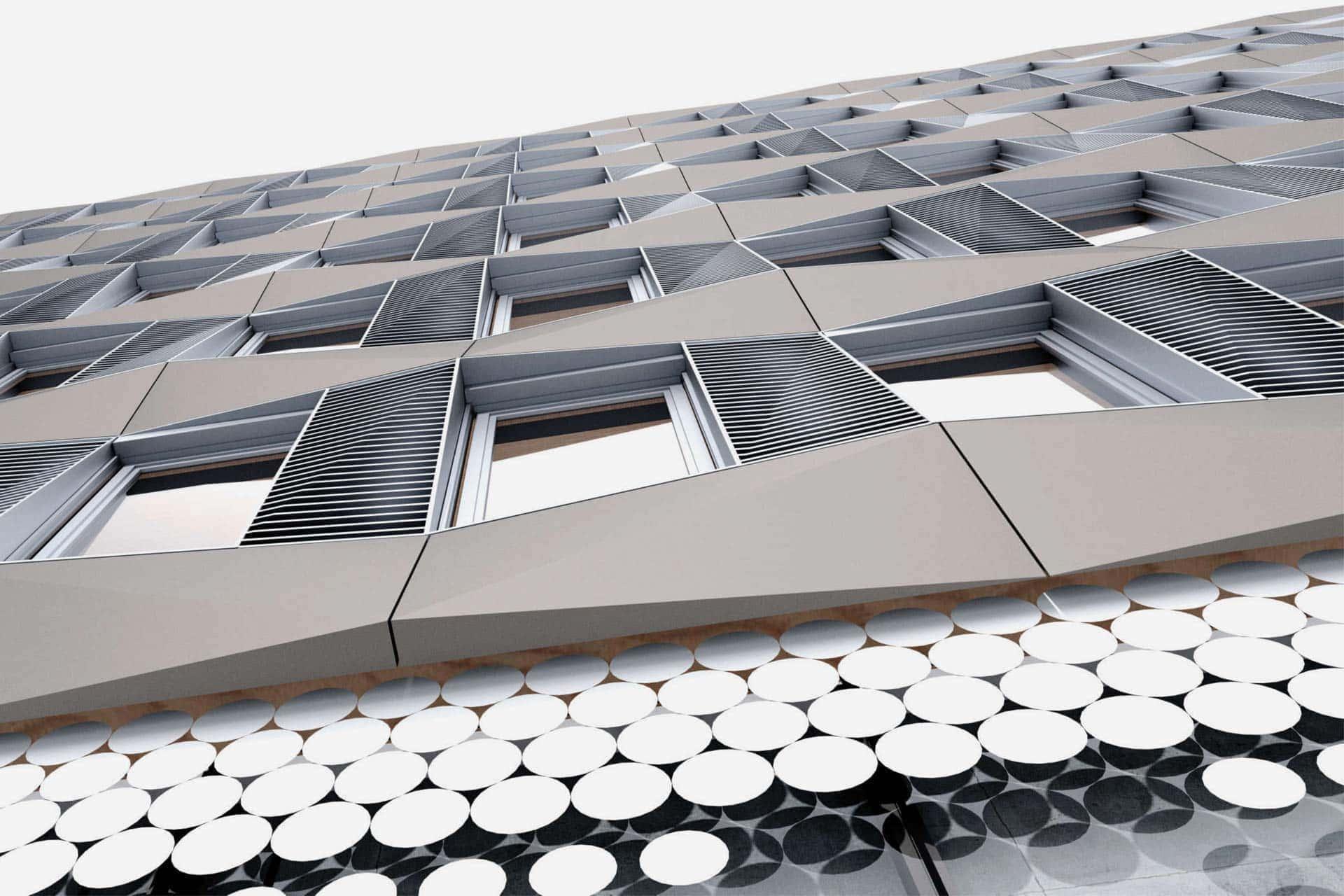 Landratsamt-Rosenheim-Sanierung, Fassade, Aldinger Architekten