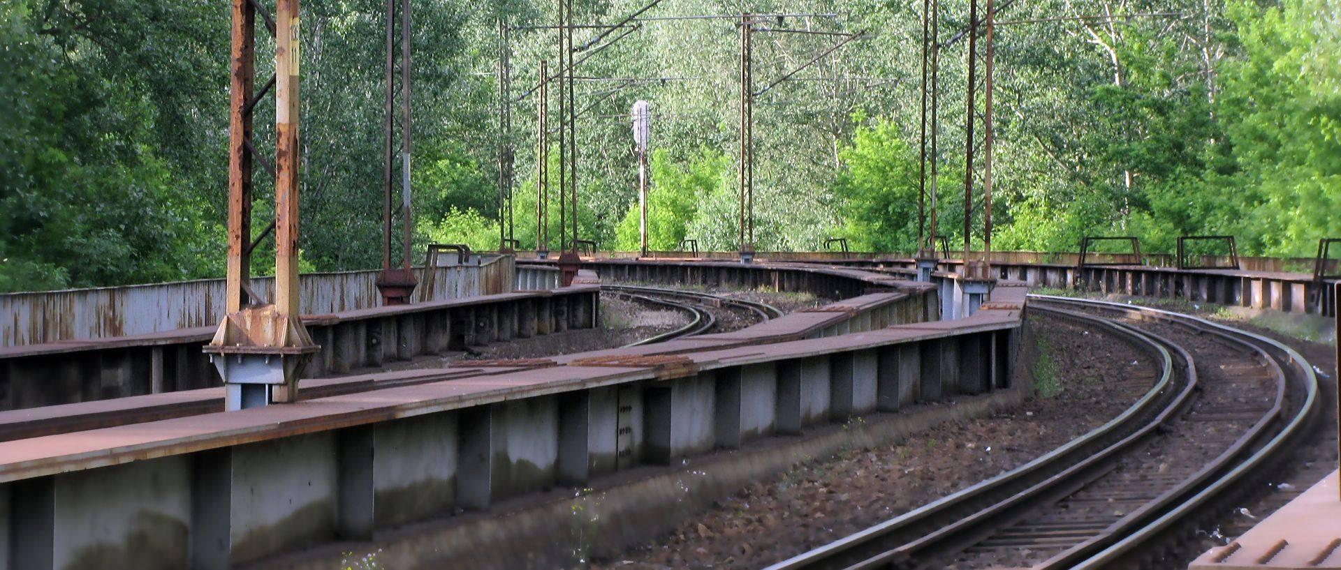 Tory na wiadukcie - Toruń