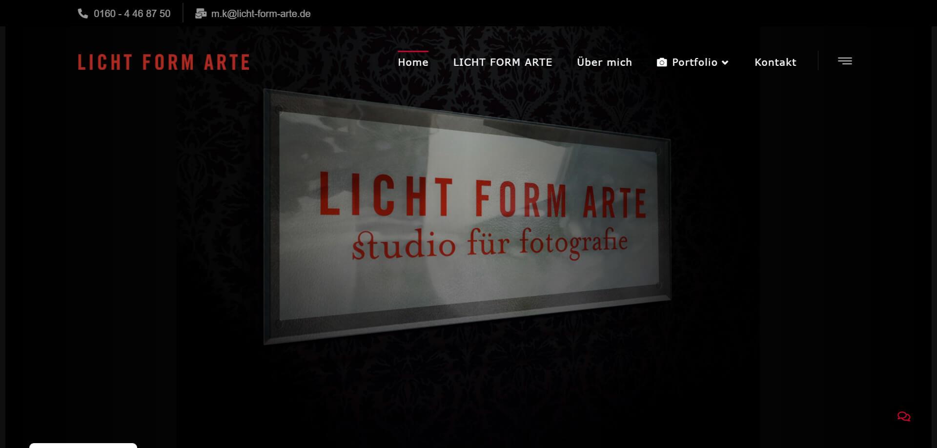 Licht Form Arte - WordPress Webdesign Referenz