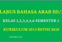 silabus bahasa arab mi kelas 1,2,3,4,5 dan 6 k13 semester 1