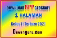 download rpp geografi 1 lembar kelas 11 terbaru