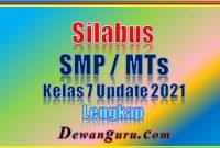 silabus smp mts kelas 7 update 2021 lengkap
