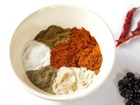 Individual Chili Seasoning Ingredients arranged unmixed in a bowl