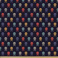 ABAKUHAUS-Microfibra-Decorativa-Manualidades-Multicolor-telas-calaveras