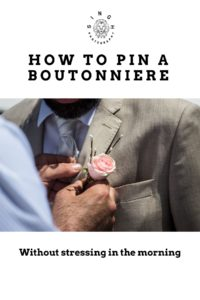How to pin a boutonnière