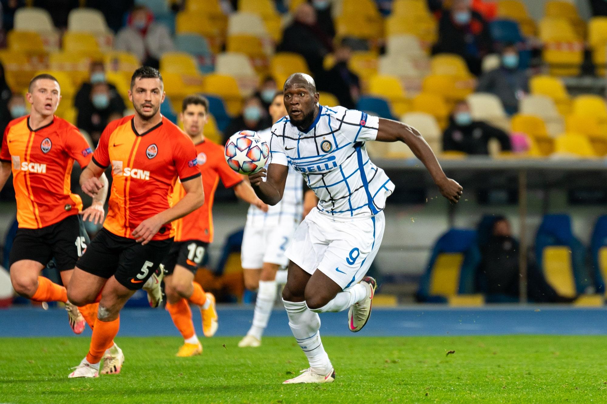 Lukaku in Inter Milan vs Shakhtar Donetsk game