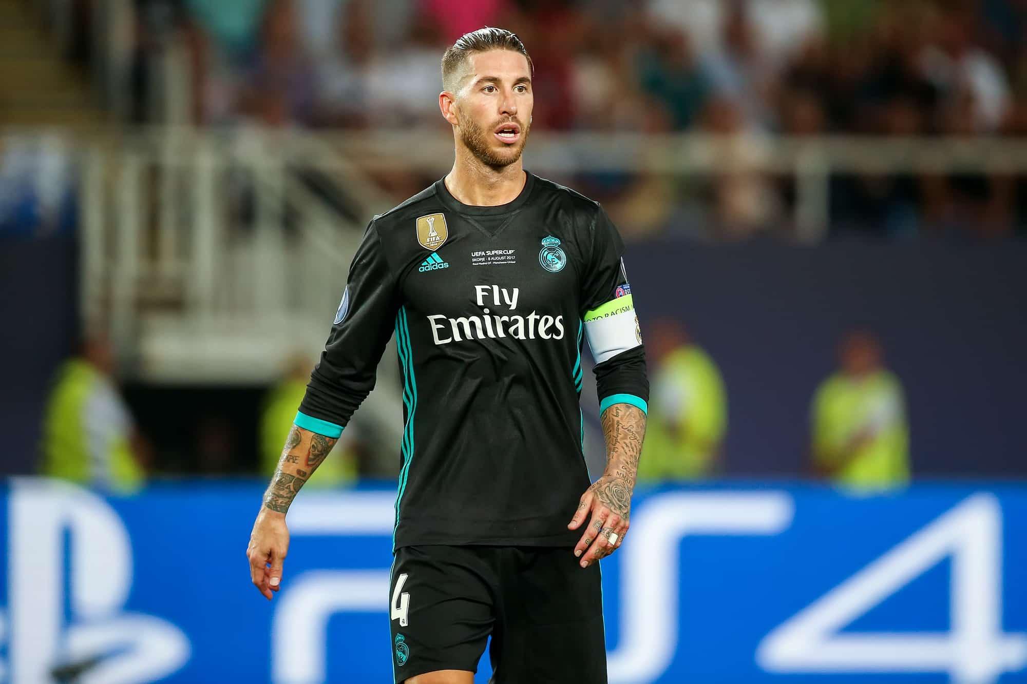 Sergio Ramos will be playing in the Real Madrid vs Borussia Monchengladbach