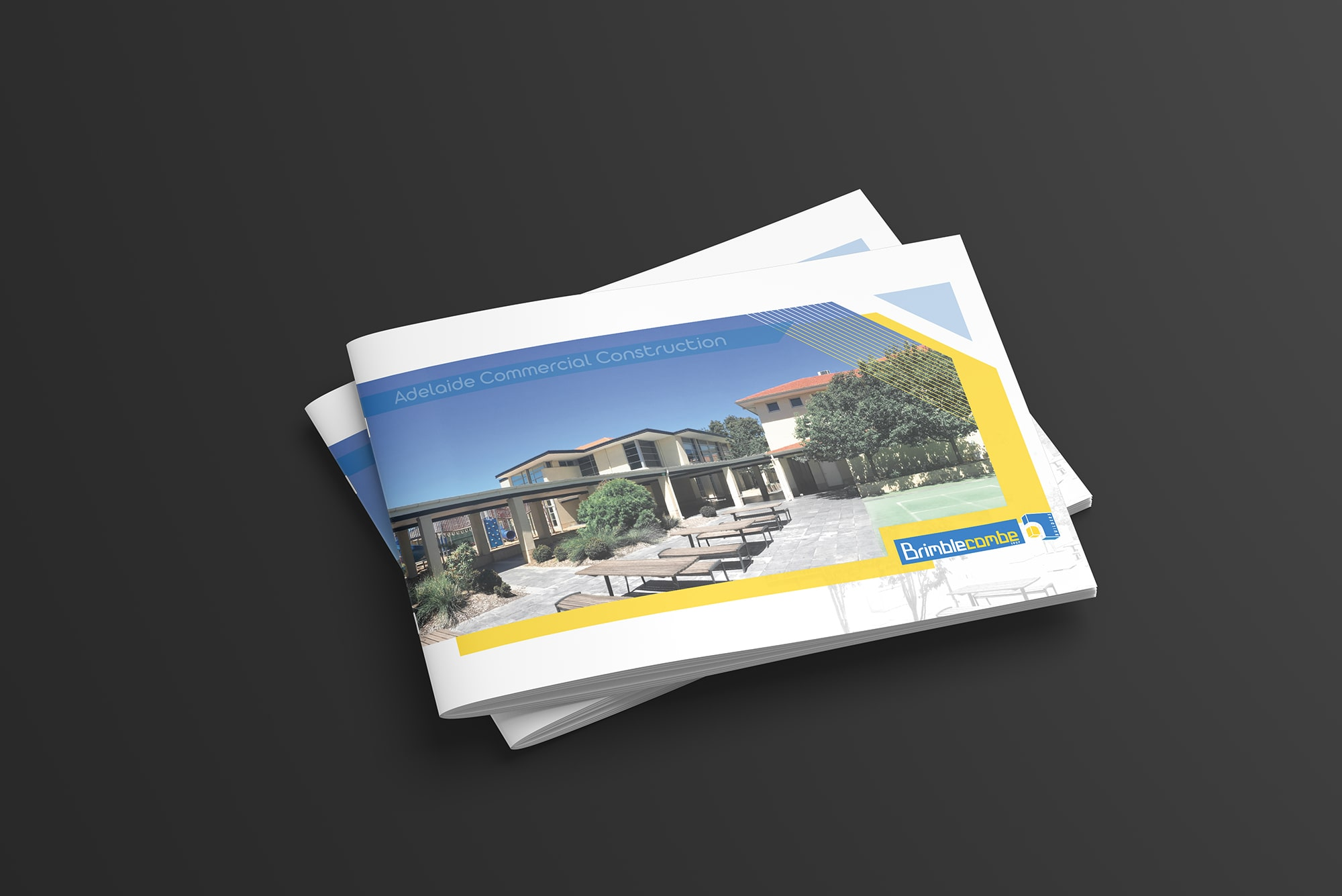 Broszura dla firmy budowlanej projekt graficzny