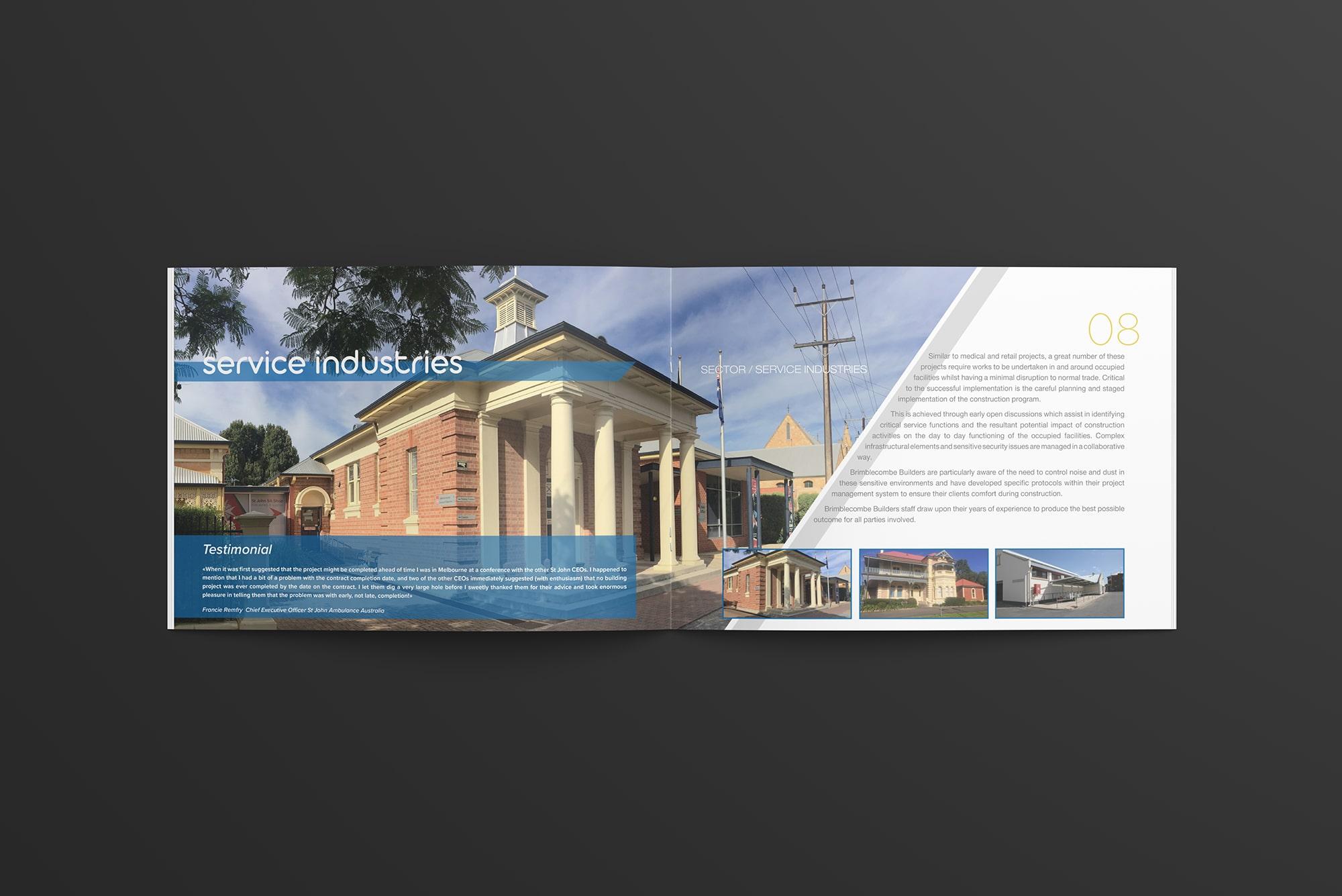 Broszura booklet dla firmy budowlanej katalog firmowy