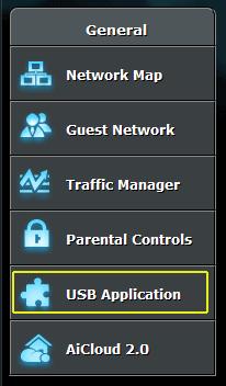 USB Application settings