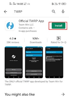 Install TWRP Application from PlayStore