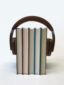 headphones, audiobook, technology