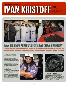 IVAN KRISTOFF PRESENTS FORTIS AT DUBAI HELISHOW