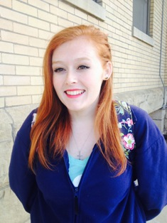 """Taylor Meek, a 22-year-old communications major said, """"I'm thankful for my health, education, family, friends, and God."""""""