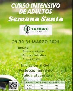 intensivo semana santa tambre golf