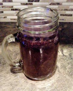 cold brew immersion in mason jar