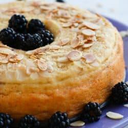 Pressure Cooker Blackberry Almond Breakfast Cake