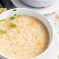 Instant Pot Creamy Cauliflower Soup