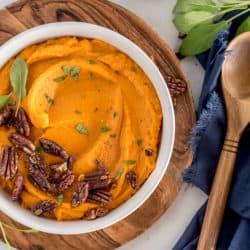 Instant Pot Mashed Sweet Potatoes – Savory Style
