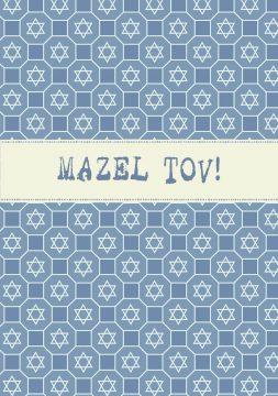 MT627 Mazel Tov Jewish Illuminated Greeting Card