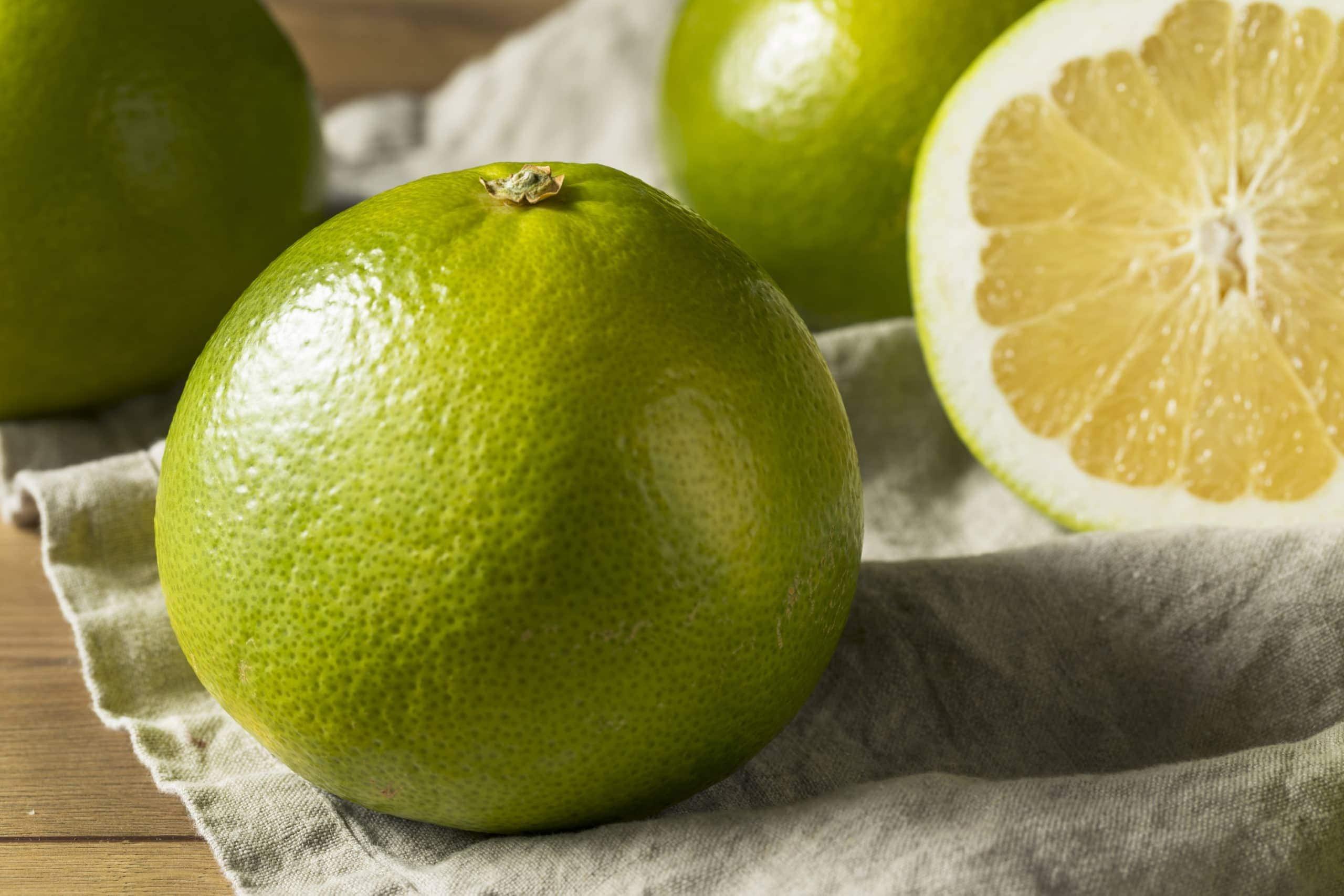 green Florida pomelo