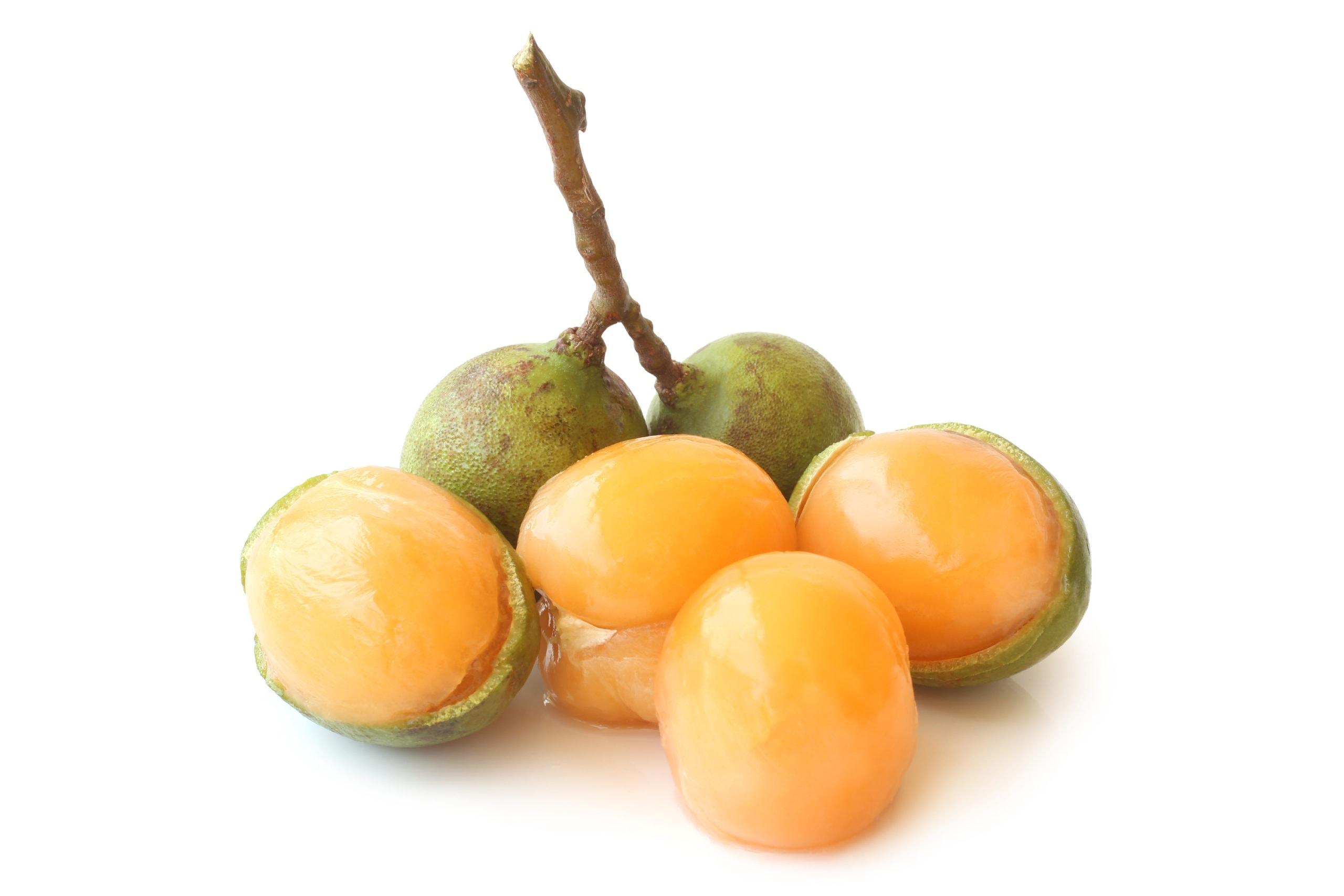 peeled guinep fruit