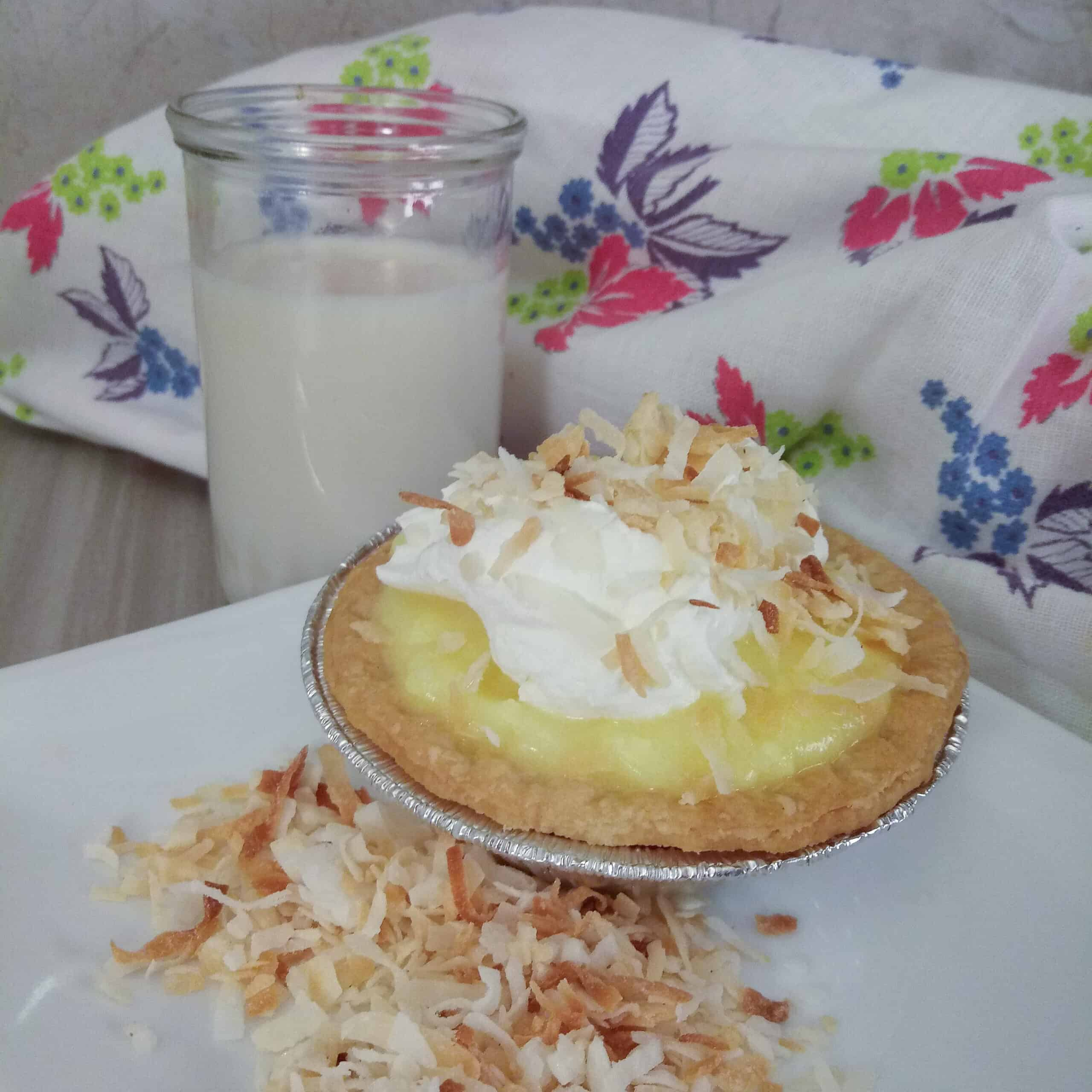 Coconut Cream Tart Pies
