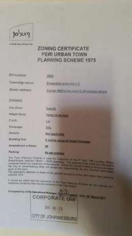 Zoning Certificate Municipality Council City of Johannesburg