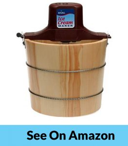 Rival 8550-X- Five Quart Wooden Old Fashioned Electric Ice Cream Maker