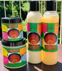 Organic hair care collection