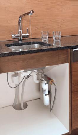Wasserfilter für den Wasserhahn vital premium Wasserfilter und 3-Wege-Wasserhahn permaquell Untertisch Küche unter der Spüle wassershop