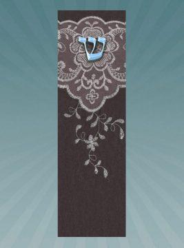 CM183 Embroidery Car Mezuzah by Mickie Caspi
