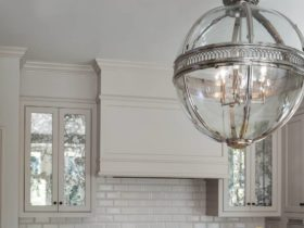 white subway tile and white grout showing a traditional feel in a Victorian kitchen