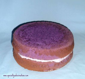 Naked Purple Ube Layer Cake