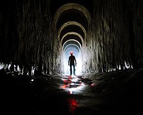 Bob Woodruff In A Tunnel Under Kiev