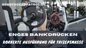 Bild Enges Bankdrücken