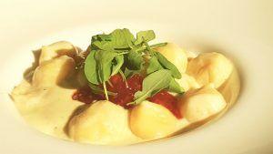 Restaurante italiano Cinquecento Valencia Gnocchi caramellati al taleggio